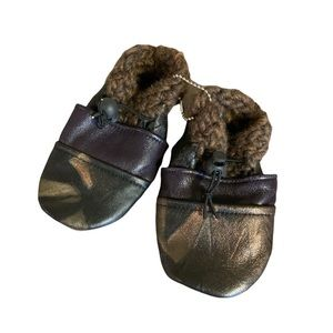 🆕 Handmade Soft Leather Moccasins - Baby Size 4